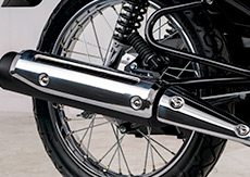 Muffler with crisp and pulsating sound